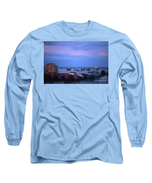 Old Port Of Nha Trang In Vietnam Long Sleeve T-Shirt