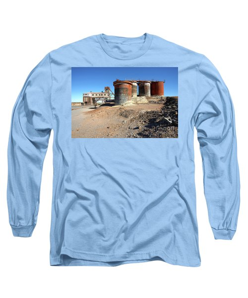 Long Sleeve T-Shirt featuring the photograph Old Silver Mine Broken Hill by Bill Robinson