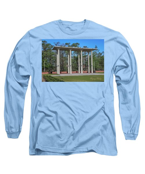 Long Sleeve T-Shirt featuring the photograph Old Student Union Arches by Gregory Daley  PPSA