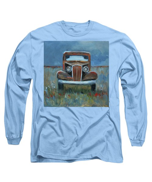 Long Sleeve T-Shirt featuring the painting Old Timer by Billie Colson