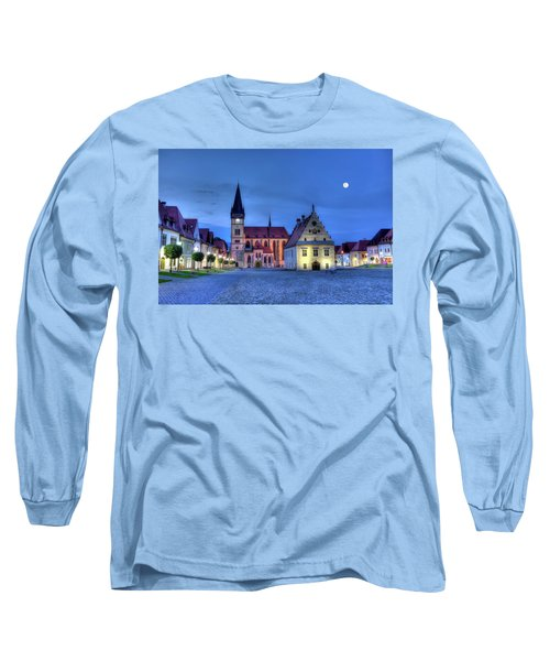 Old Town Square In Bardejov, Slovakia,hdr Long Sleeve T-Shirt by Elenarts - Elena Duvernay photo
