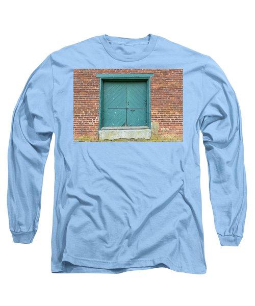 Old Warehouse Loading Door And Brick Wall Long Sleeve T-Shirt