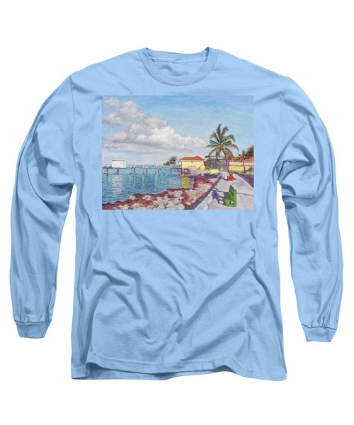 Old Yellow Gas Station By The Waterfront - Cooper's Town Long Sleeve T-Shirt