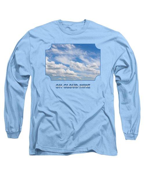 On Cloud Nine - Blue Long Sleeve T-Shirt