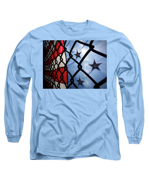 Long Sleeve T-Shirt featuring the photograph On The Fence by Robert Geary