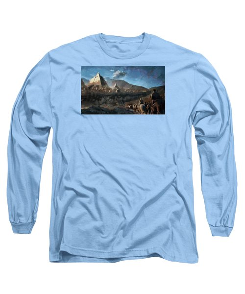 Long Sleeve T-Shirt featuring the painting On The Road To Meereen by Mario Carini