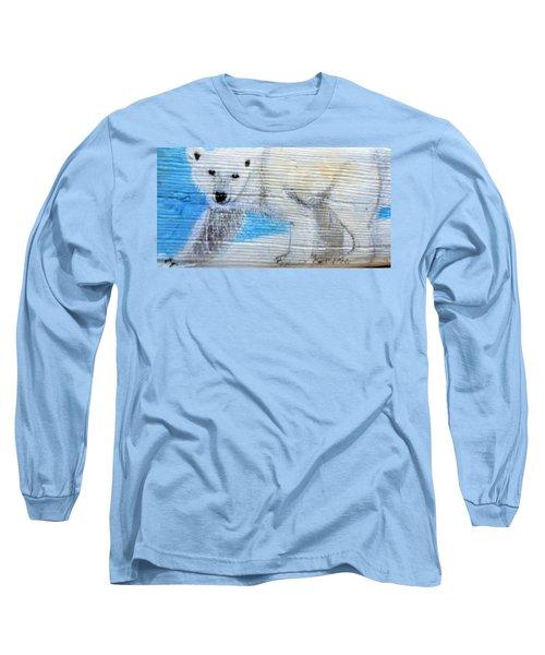 On Thin Ice Long Sleeve T-Shirt by Ann Michelle Swadener