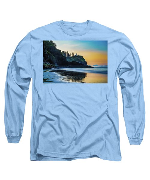 One Morning At The Beach Long Sleeve T-Shirt by Ken Stanback