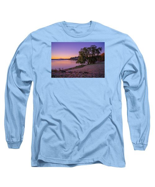 One Morning At The Lake Long Sleeve T-Shirt by Ken Stanback