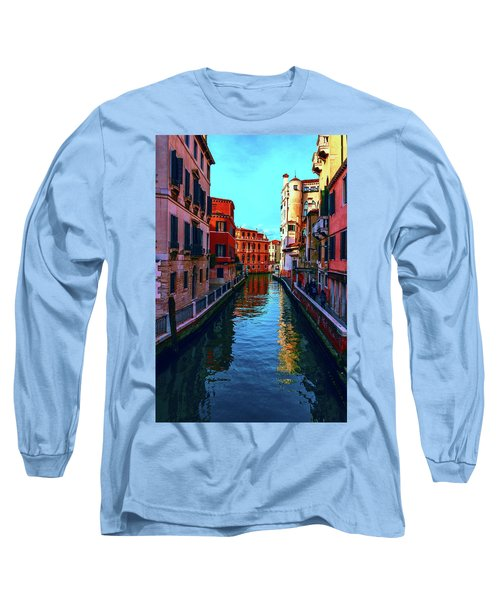 one of the many beautiful old Venetian canals on a Sunny summer day Long Sleeve T-Shirt