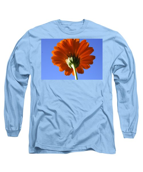 Orange Gerbera Flower Long Sleeve T-Shirt