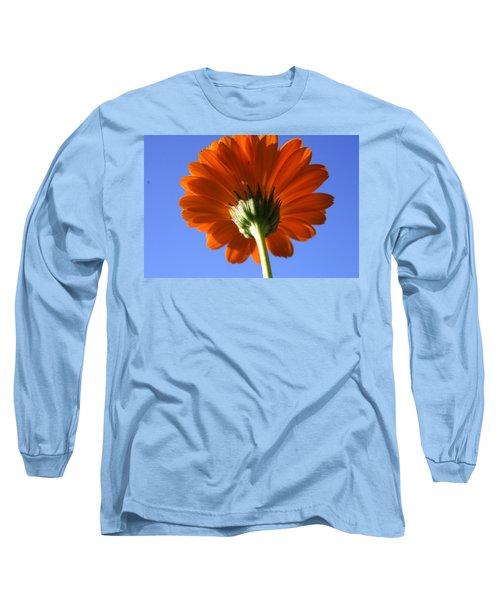 Orange Gerbera Flower Long Sleeve T-Shirt