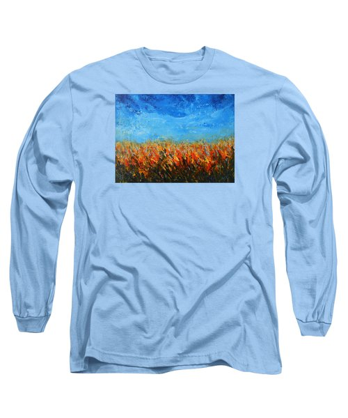 Orange Sensation Long Sleeve T-Shirt by Jane See