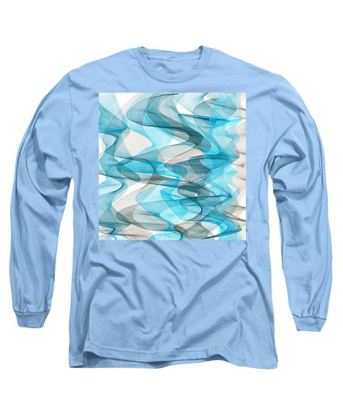 Orderly Blues And Grays Long Sleeve T-Shirt