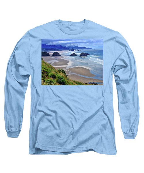 Oregon Coast Long Sleeve T-Shirt by Scott Mahon