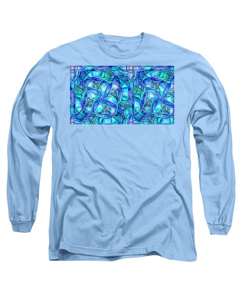 Long Sleeve T-Shirt featuring the digital art Organic In Square by Ron Bissett