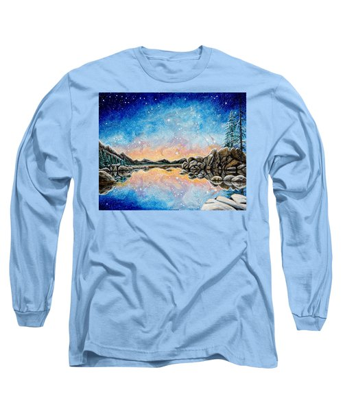 Orion Over Tahoe Winter Long Sleeve T-Shirt by Matt Konar