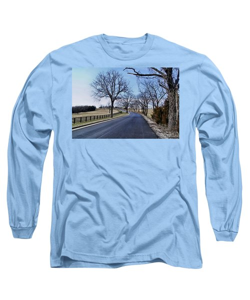 Long Sleeve T-Shirt featuring the photograph Osage County Road by Cricket Hackmann