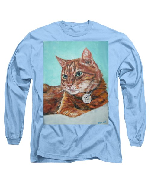 Long Sleeve T-Shirt featuring the painting Oscar by Bryan Bustard