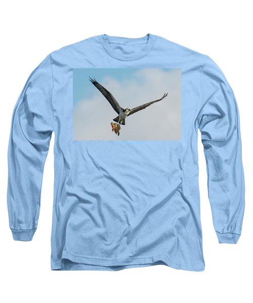 Osprey With Rainbow Bass 1 Long Sleeve T-Shirt