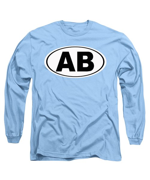Long Sleeve T-Shirt featuring the photograph Oval Ab Atlantic Beach Florida Home Pride by Keith Webber Jr