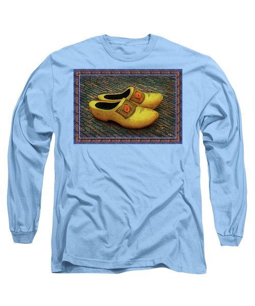 Long Sleeve T-Shirt featuring the photograph Oversized Dutch Clogs by Hanny Heim