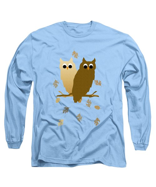 Owls Pattern Art Long Sleeve T-Shirt