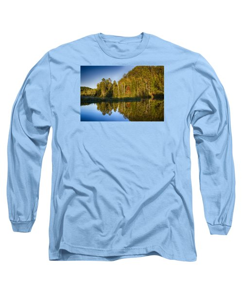 Paint River Long Sleeve T-Shirt by Dan Hefle