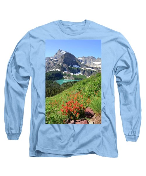 Paintbrush Above Grinnell Lake Long Sleeve T-Shirt