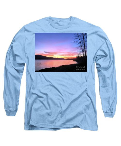 Painted Sky Long Sleeve T-Shirt by Victor K