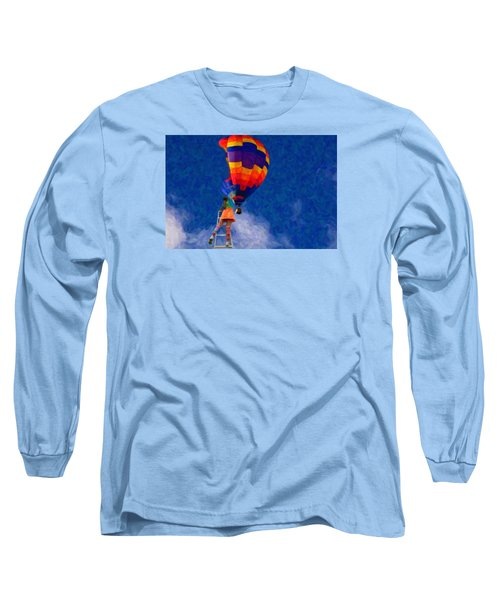 Painting The Sky Long Sleeve T-Shirt by Andre Faubert