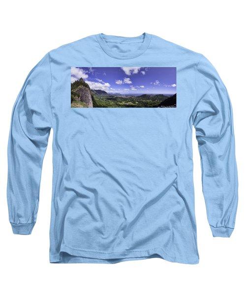 Pali Lookout Panorama Long Sleeve T-Shirt