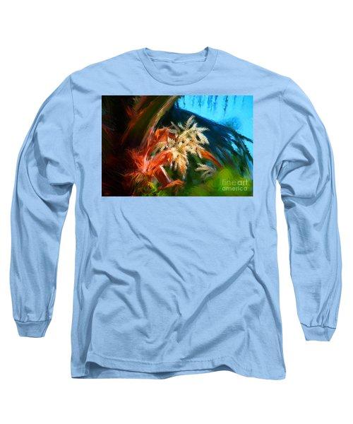 Palm Flowers Long Sleeve T-Shirt