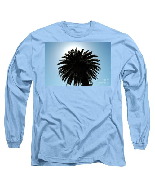 Palm Tree Silhouette Long Sleeve T-Shirt