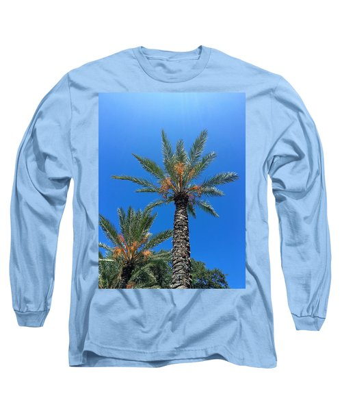 Palm Trees Long Sleeve T-Shirt by Kay Gilley