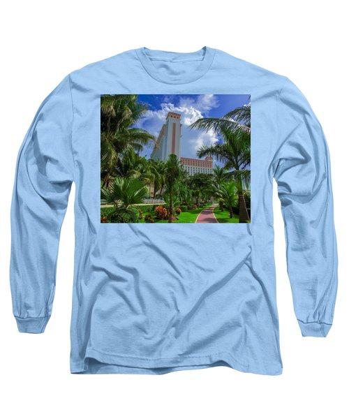 Palms At The Riu Cancun Long Sleeve T-Shirt
