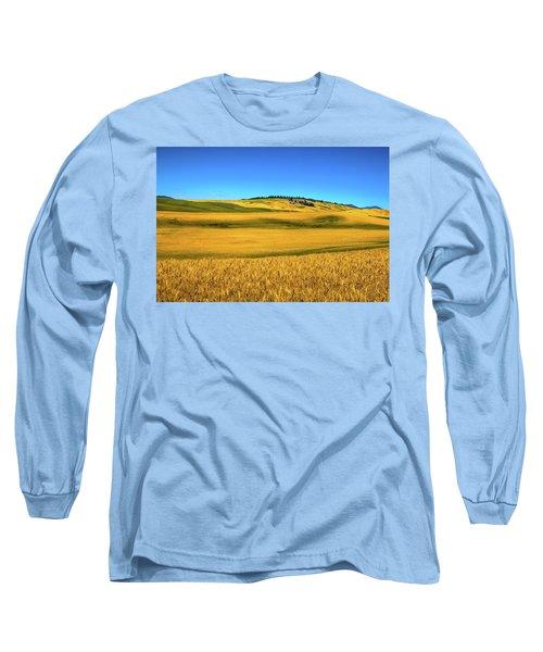 Palouse Wheat Field Long Sleeve T-Shirt