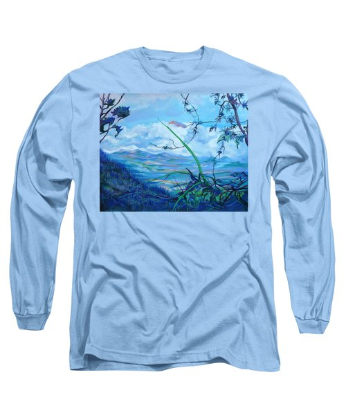 Long Sleeve T-Shirt featuring the painting Panama. Anton Valley by Anna  Duyunova