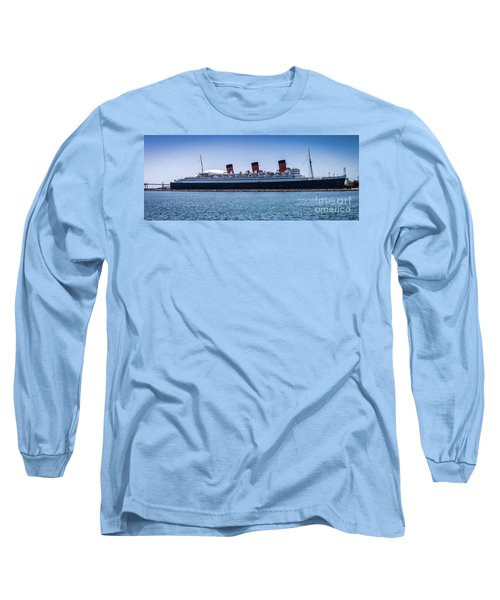 Panorama Of The Queen Mary Long Sleeve T-Shirt
