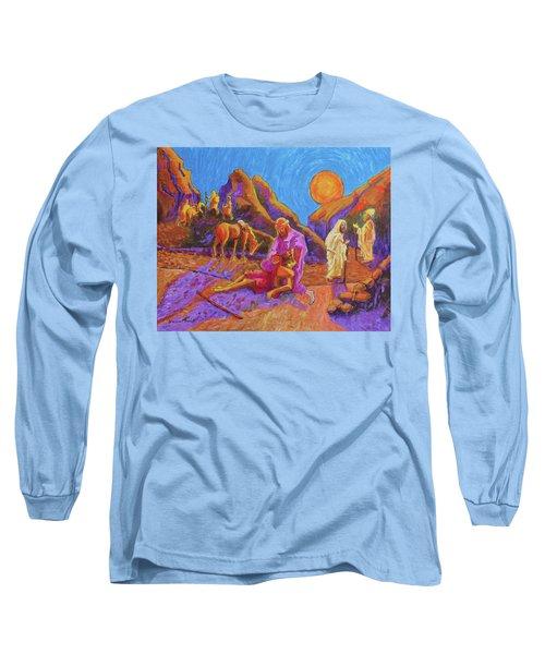 Parables Of Jesus Parable Of The Good Samaritan Painting Bertram Poole Long Sleeve T-Shirt by Thomas Bertram POOLE