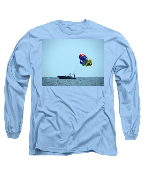 Long Sleeve T-Shirt featuring the photograph Parasail by Cathy Harper
