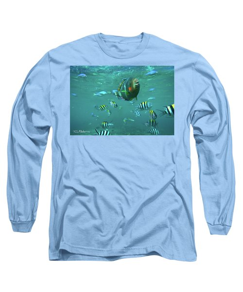 Parrot Fish Long Sleeve T-Shirt by Tim Fitzharris