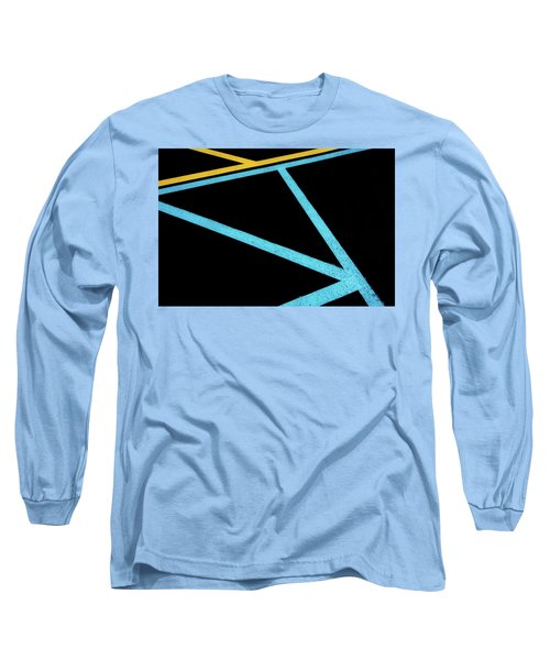 Long Sleeve T-Shirt featuring the photograph Partallels And Triangles In Traffic Lines Scene by Gary Slawsky