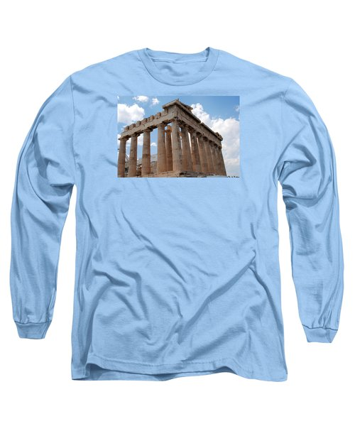Long Sleeve T-Shirt featuring the photograph Parthenon Side View by Robert Moss