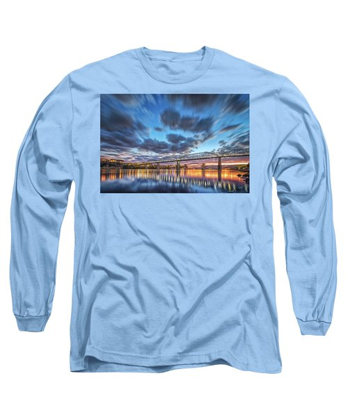Passing Clouds Above Chattanooga Long Sleeve T-Shirt by Steven Llorca