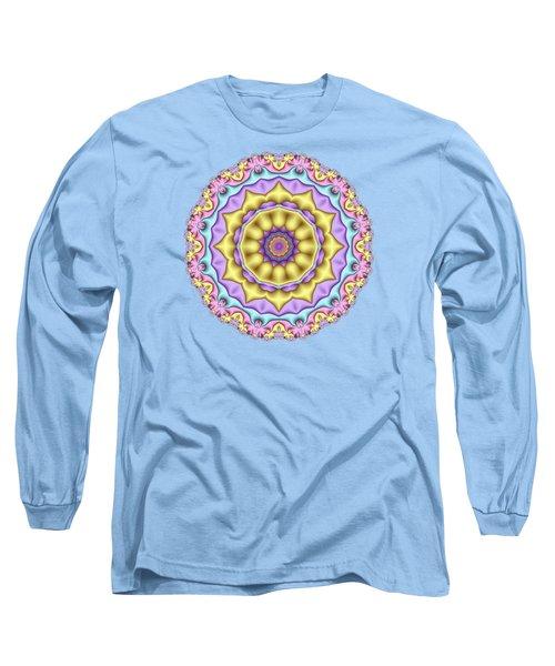 Pastel Fractal Mandala 01 Long Sleeve T-Shirt