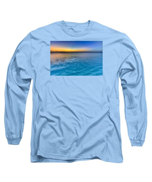 Pastel Ocean Long Sleeve T-Shirt by Chad Dutson