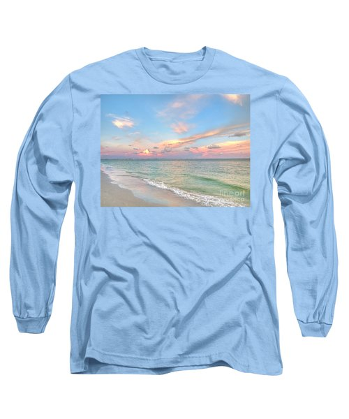 Pastel Sunset On Sanibel Island Long Sleeve T-Shirt