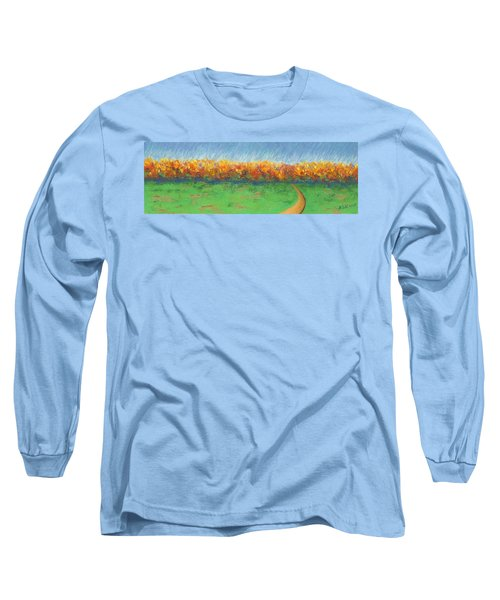Path To Autumn Trees Long Sleeve T-Shirt