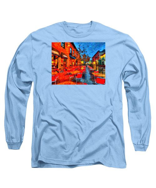 Patio Long Sleeve T-Shirt by Andre Faubert